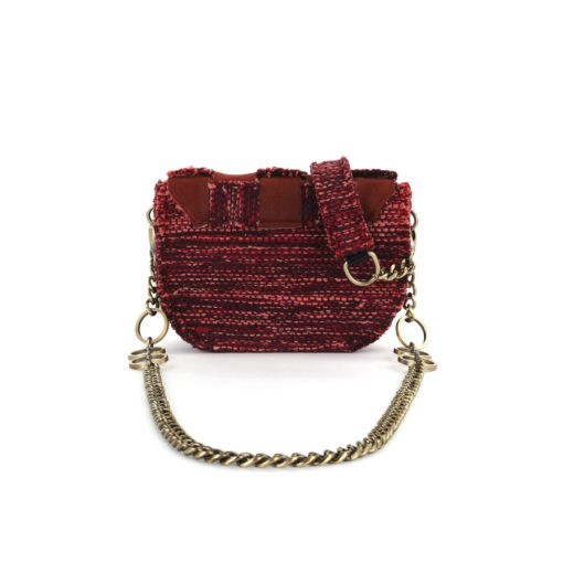 KOORELOO Fabric and Leather Shoulder Bag Pixel Orbit Red 10102.26.26