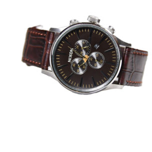 Nixon The Sentry Chrono Leather Brown