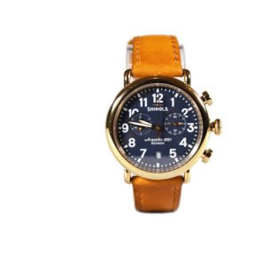 Shinola The Runwell Chrono 41mm Camel-Blue