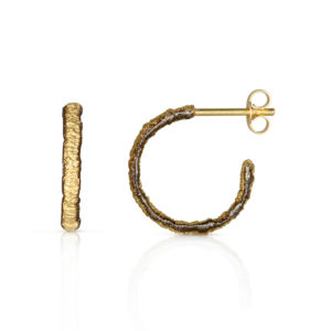 Alexandra Jacoumis Straight Stitch Hoops with Black Borders, Small AJES003s