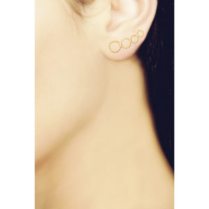 Christina Soubli Tattoo Round Ear Climbers TAT01