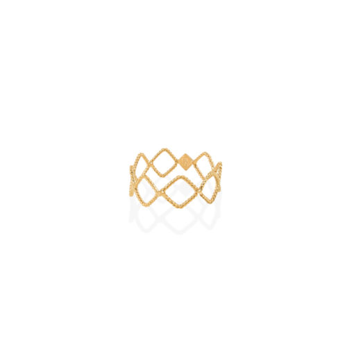 Christina Soubli Basic Tattoo Square Ring TAT15