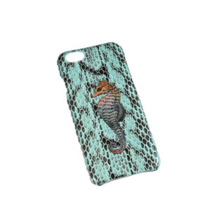 The Case Factory iP6 Real Water Snake Aqua Seahorse