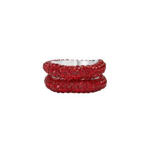Atelier Swarovski Tigris Stacking Rings Siam SW5507124 & SW5513780