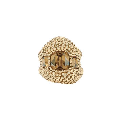 Atelier Swarovski Tigris Cocktail Ring Goldenshadow SW5511551 & SW5507101
