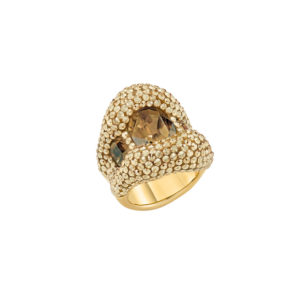 Atelier Swarovski Tigris Cocktail Ring Goldenshadow SW5511551 & SW5507101
