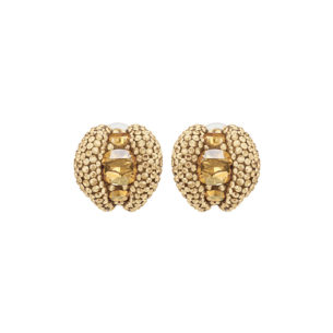 Atelier Swarovski Tigris Stud Clip Earrings Goldenshadow SW5507104