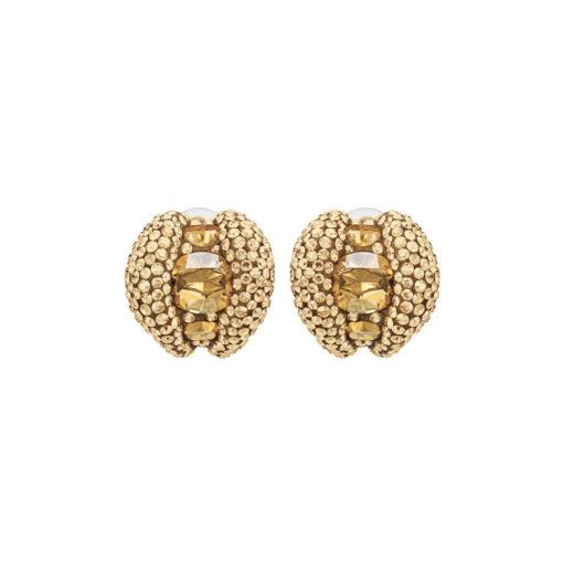 Atelier Swarovski Tigris Stud Clip Earrings Goldenshadow SW5507104