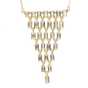 Baguette Cascade Necklace
