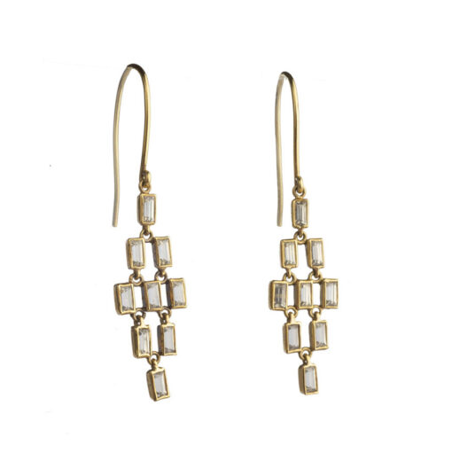Baguette Drop Earrings