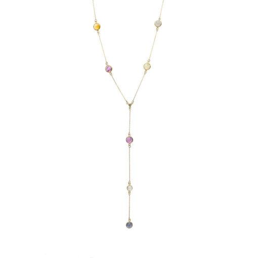 Multicolour Rose Cut Sapphire Necklace