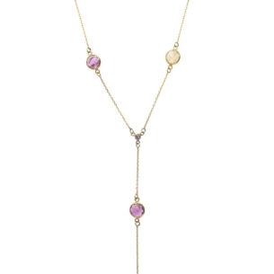 Multicolour Rose Cut Sapphire Necklace