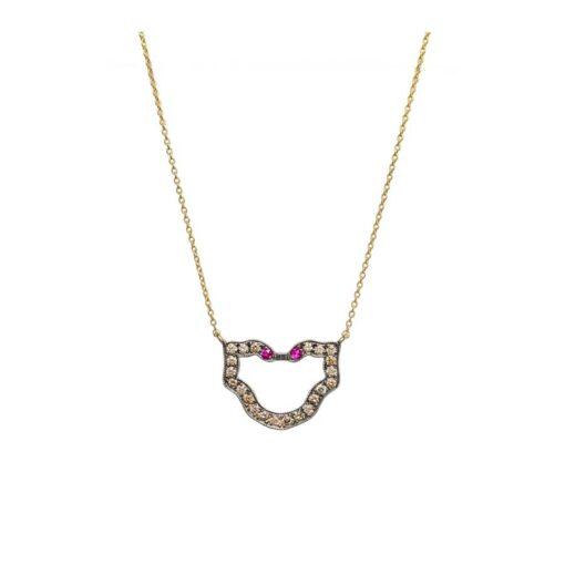 Semele Brown Diamonds Necklace - CE101
