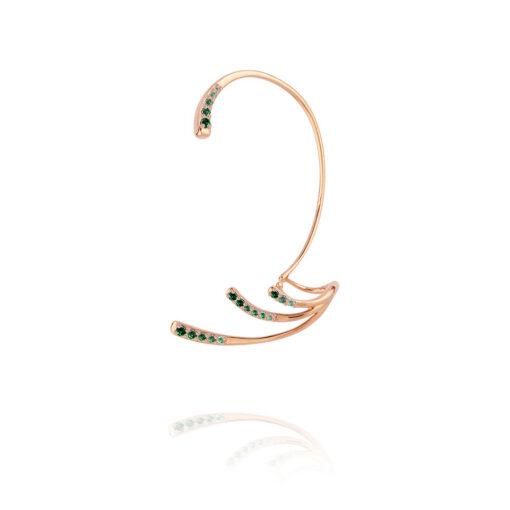 MARIE-MAS---Ocean-Ripple-Ear-Jewel--Emerald-Wave-