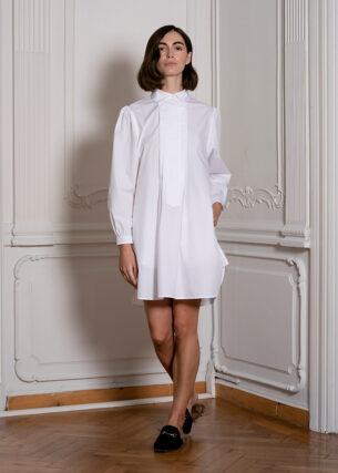 Shirt Dress with Pleats