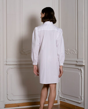 Shirt Dress with Pleats
