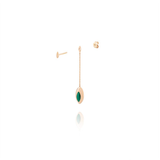 Web---Malachite-Short-Swinging-Chain-Earring