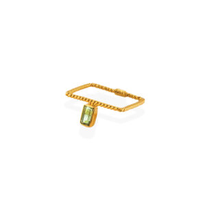 BAS-05Sgt-Square-ring-with-green-tournaline
