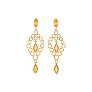 Dentelles-Chandelier-Earrings-with-Citrines