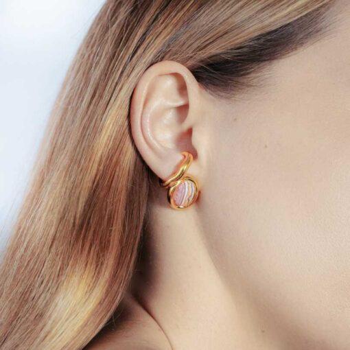 framed-rhodochrosite-earring-vermeil-rhodochros