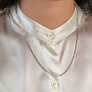 chain paper clip necklace 50cm