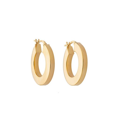 GOLD PLATED WIDE HOOPS SOR.238355