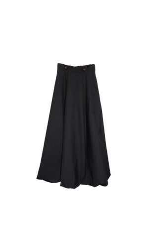Maxi flared skirt
