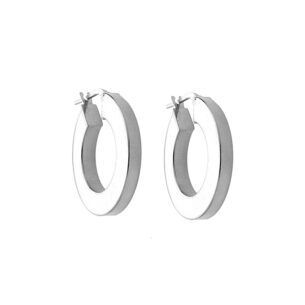 Silver Wide Hoops SOR.238354