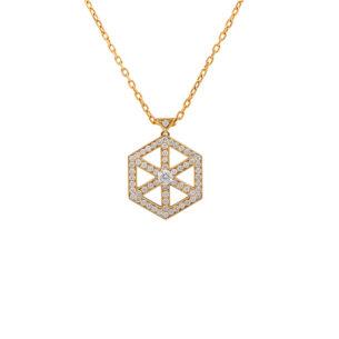 Small Pendant with Diamonds