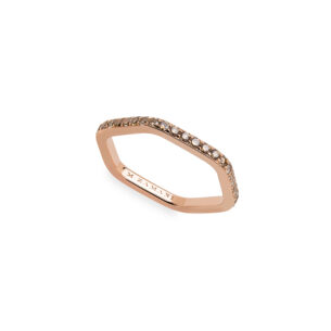 rose gold ring with cognac diamonds by mania zamani