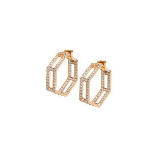 Hoop earrings with diamonds